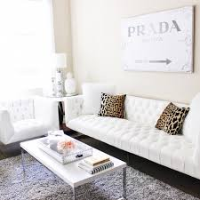 Splash Home Decor Blondie In The City Home Decor White Tufted Couch Leopard