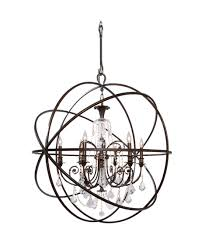 Crystal Sphere Chandelier Crystorama 9219 Solaris 40 Inch Wide 6 Light Chandelier Capitol
