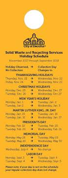 solid waste collection schedule city of decatur ga