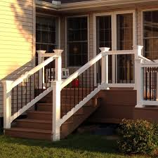 the kirklees vinyl stair rail kit by durables decksdirect