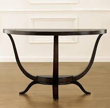 restoration hardware sofa table preston demi lune console table remember when restoration