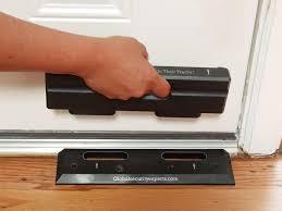 glass door stopper security door brace the ongard onguard prevents burglaries u0026 home
