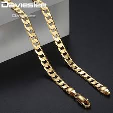 mens jewelry necklace chain images Davieslee mens necklace chain rose white gold filled curb chains jpg