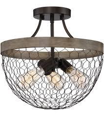 Quoizel Flush Mount Ceiling Light Quoizel Wse1715cg Willowstone 3 Light 15 Inch Classic Grey Semi