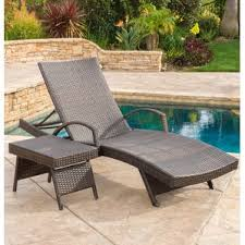 Patio Furniture Chaise Lounge with Outdoor Lounge Chairs
