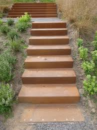 stairs treppen corten stairs in berne park by piet outdolf gross max treppen