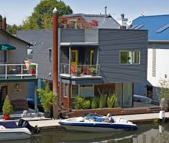 floating house exterior beach style with modern house traditional