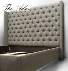 Winged Tufted Headboard by Smart Winged Diamond Tufted Headboard U0026 Bed With Upholstered Bed