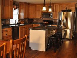 Hickory Cabinets Kitchen Kitchen Backsplash With Hickory Cabinets Exitallergy Com