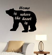 popular wildlife wall murals buy cheap wildlife wall murals lots mad world bear animal wildlife silhouette wall art stickers decal home diy decoration wall mural