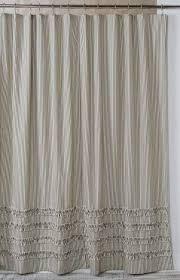 Stripe Shower Curtains Ruffled Ticking Stripe Shower Curtain Black U2013 Southern Ticking Co