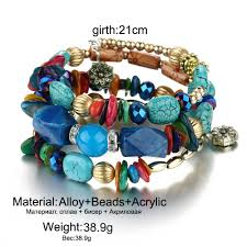 bangle bracelet beads images 17km brand woman boho multilayer beads charm bracelets for women jpg