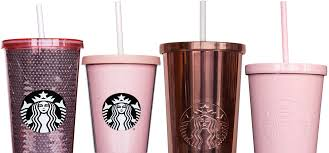 gold starbucks tumblers exist and they re so pretty