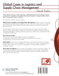 global cases in logistics and supply chain management david l