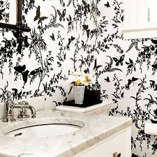 Black And White Wallpaper For Bathrooms - 10 bathroom wallpaper designs bathroom designs design trends