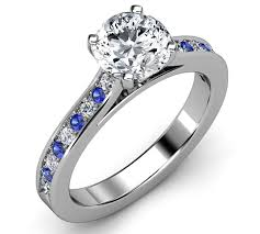 Diamond Sapphire Wedding Ring by Exquisite Wedding Rings Engagement Rings Diamond Blue Sapphire