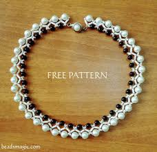 free pattern for necklace islandia beads magic perlas