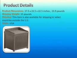 suncast ssw1200 mocha resin wicker 22 gallon storage seat youtube