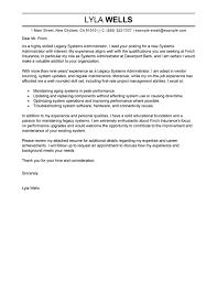 network administrator cover letter sample exchange administration