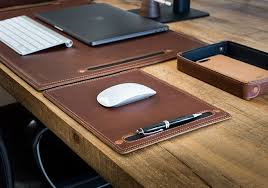 Small Desk Pad Leather Mouse Pad Desk Protector