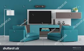 living room wall unittv two stock illustration 632638385