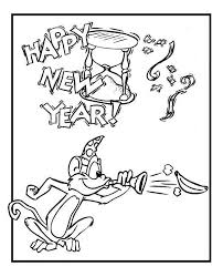 cute monkey on new years eve celebration on 2015 new year coloring