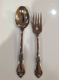 Oneida Chandelier 2 Oneida Salad Fork Table Spoon All American Stainless Briarwood