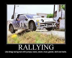 Drag Racing Meme - one hot lap rallying is a bit like drag racing