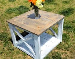 Farmhouse Side Table Farmhouse Coffee Table