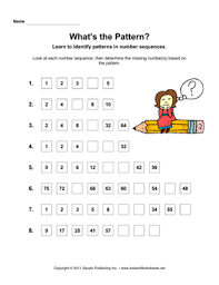 math patterns u2014 instant worksheets