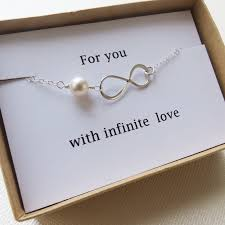 infinity bracelet love holiday gift infinity jewelry card