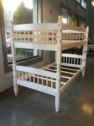 Jenny Lind Full Bed Jenny Lind Style Twin Over Twin Wood Bunk Beds With Two Mattress