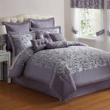 Country Style King Size Comforter Sets - elegant 10 pc purple silver jacquard king size comforter bed set