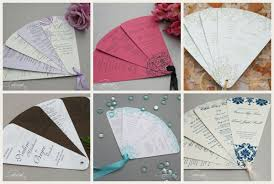 make your own wedding fan programs diy fan program kits from cherish paperie