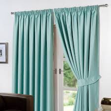 Blackout Lining For Curtains Thermal Pencil Pleat Blackout Pair Curtains Ready Made Fully Lined