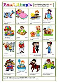 printable worksheets english tenses past simple worksheet good for esl kids past simple pinterest