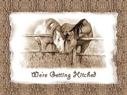 western wedding invitations horses western wedding invitation getting hitched drawing by joyce