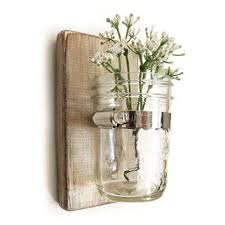 Shabby Chic Wall Sconces Shop Mason Jar Wall Sconce On Wanelo
