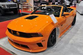 Mustang Yellow And Black Sema 2011 Tjin Edition Mustang Convertible Mustangs Daily