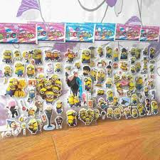 despicable me minions 3d cartoon bubble stickers diy wall decal see larger image