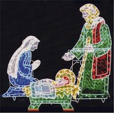 Outdoor Lighted Christmas Angels by Outdoor Nativity Set Ebay