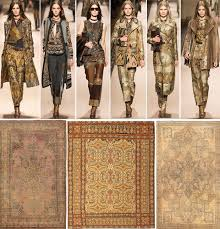 fashion week antique rugs inspired by fashion runway