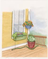 soaker hose system for pots and planters gardeners com