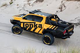 yellow toyota truck toyota hilux tonka concept revealed as off roader