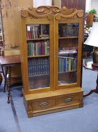 Oak Bookcases With Glass Doors Bookcase With Glass Doors Home Design By