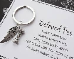in memory of keychains pet loss gifts etsy
