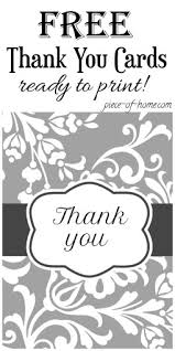 thank you cards printable of home