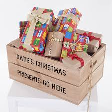 personalised large christmas gift crate by plantabox