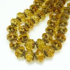 vintage glass crystal necklace images Art deco czech crystal yellow glass beads vintage necklace large jpg