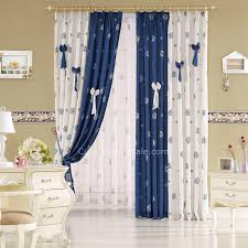 Blue And White Window Curtains Blue And White Kids Bedroom Nice Window Curtains Clearance Of Printing